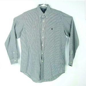 Ralph Lauren Mens Size 15 Medium Shirt Long Sleeve